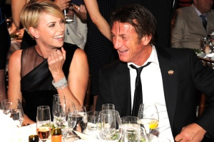 BEVERLY HILLS, CA - JANUARY 11:  Charlize Theron and Sean Penn attend  the 3rd annual Sean Penn & Friends HELP HAITI HOME Gala benefiting J/P HRO presented by Giorgio Armani at Montage Beverly Hills on January 11, 2014 in Beverly Hills, California.  (Photo by Kevin Mazur/Getty Images for J/P Haitian Relief Organization)