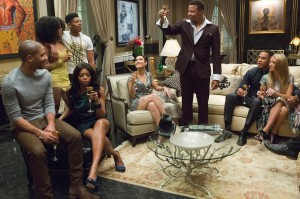 TV STILL -- DO NOT PURGE -- EMPIRE: Lucious (Terrence Howard) toasts his family in the